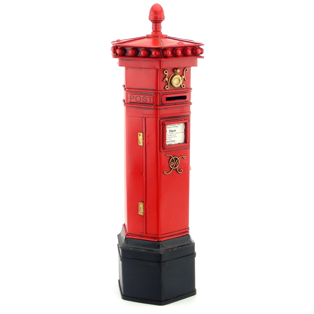 Antique London postbox ironwork handicraft model decoration household ornaments post office mail handicraft production of iron
