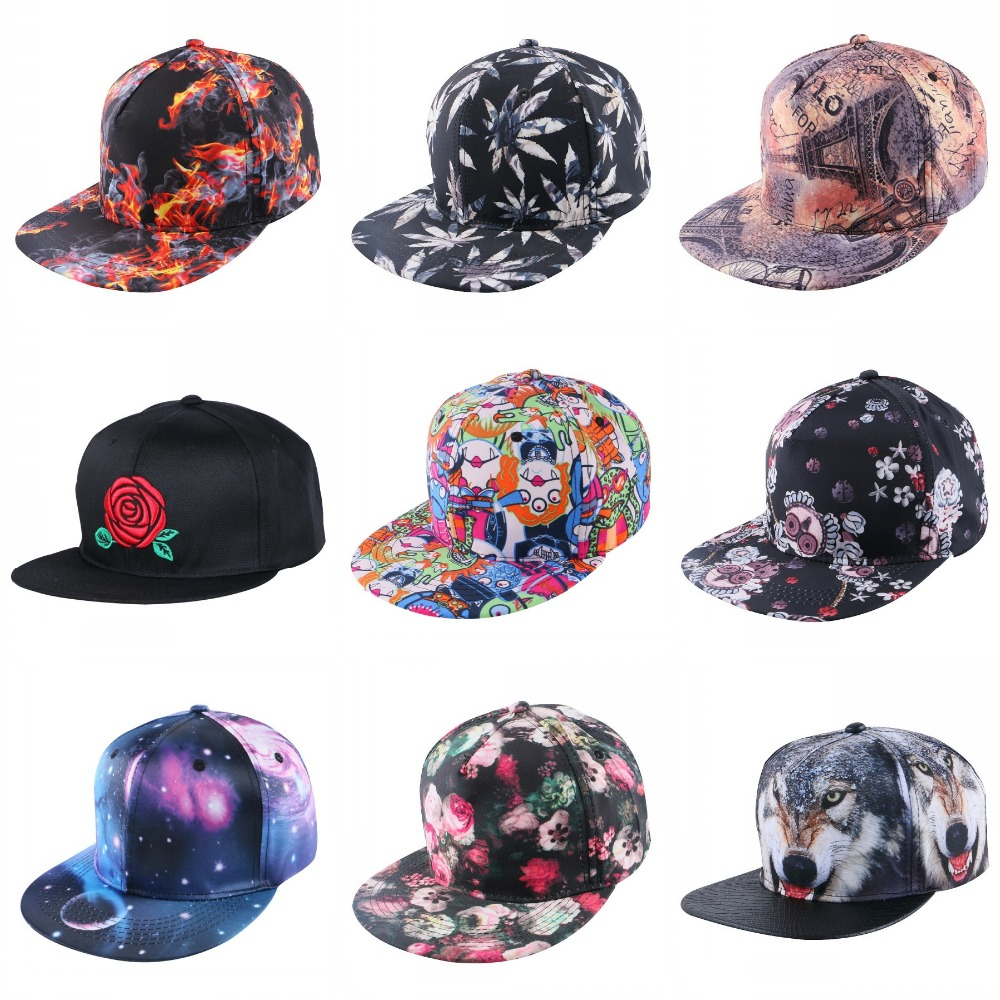 wholesale women men popular baseball cap print hemp pattern hip hop snapback hats for girl boys outdoor sports gorras casquette