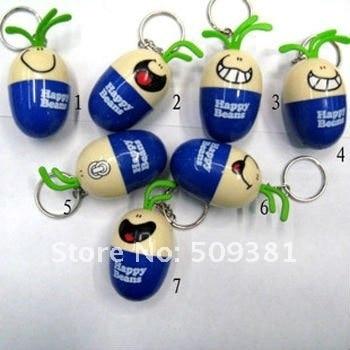 50 pcs/Lot, Free Shipping, Wholesale, Novelty Egg Doll Cartoon KeyChain Style Ballpoint Pen, Retractable Lovely Gift Pen