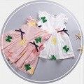 2016 verano 0-2 de los niños del bebé vestido floral Bordado mariposa infantil niñas vestido de Algodón arco volar vestidos recién nacidos chica