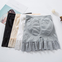 2019 Spring and Summer New Lace Safety Short Pants Large Size 4 Colors Under Skirts Seamless Modal Lace Ladies Underwear AA983 women's panties