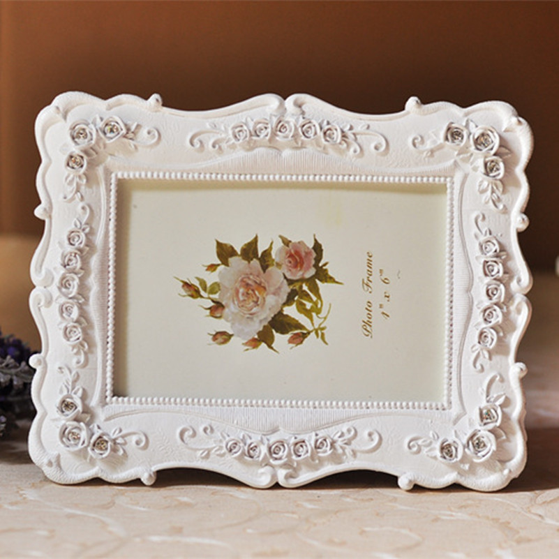 Europe Classic Wedding Photo Frame White Rose Eadge Picture Frame ...