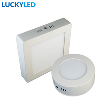 LUCKYLED Brand 6W Round / Square Surface Mounted LED Ceiling lamp panel light kitchen lighting  AC 85-265V Free shipping