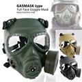 Страйкбольная пейнтбольная маска M04 армейская Военная противогаз полное лицо очки тактические маски череп манекен Wargame Маска для охоты - фото