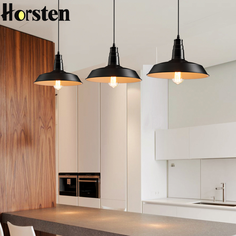 Horsten Vintage American Loft Pendant Lights Retro Pendant Lamp Industrial Hanging Lamp For Restaurant Bar Coffee Shop Lighting new loft vintage iron pendant light industrial lighting glass guard design bar cafe restaurant cage pendant lamp hanging lights