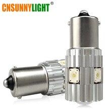 Cnsunnylight 2 шт. 1156 светодио дный BA15S P21W BAU15S PY21W S25 1200Lm 6000 К Белый DRL автомобилей Хвост Туман лампы стоп Обратный лампы