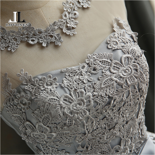 LOVONEY CH604 Short Prom Dresses 2019 Sexy Backless Lace Up Prom Gown Formal Dress Women Occasion Party Dresses Robe De Soiree 4