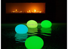 Free Shipping D27cm 16 colors rechargeable waterproof  led flat ball for bar/cafe/garden/pool/home remote control  decoration 20cm free shipping rgb remote control colors change led light ball for club or garden vc b200