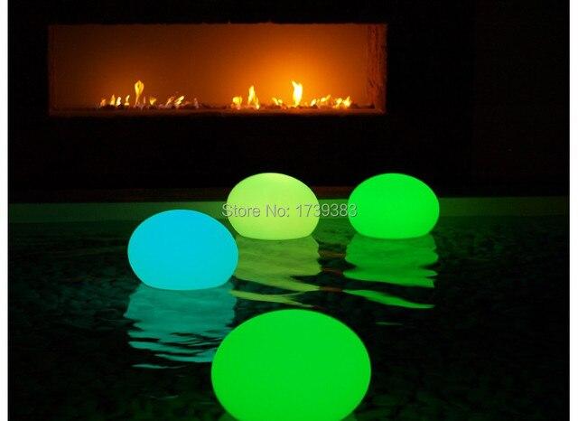 Gratis verzending d27cm 16 kleuren oplaadbare waterdichte led platte