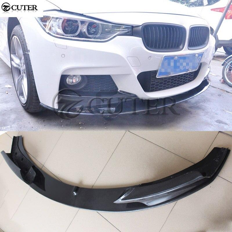 F30 3 série MP style 3 pièces/ensemble fibre de carbone voiture pare-chocs avant lèvre Spoiler pour BMW F30 325i 320i 330i M-TECH pare-chocs 13-18