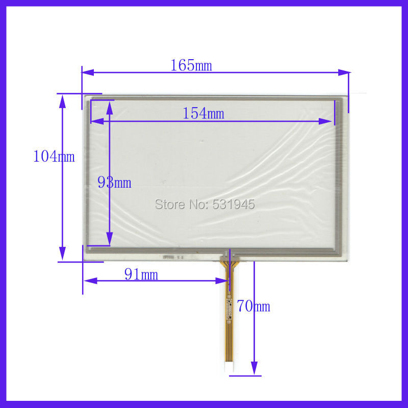ZhiYuSun 10PCS Lot 165mm 104mm New 7Inch Touch Screen for 7 GPS GLASS 165 104 for