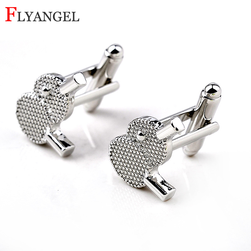 1 Pair Table tennis Sleeve Nails Men Fashion Shirts pingpong Racket Cufflinks Jewelry Men Business Husband Fathers Day DIY Gift