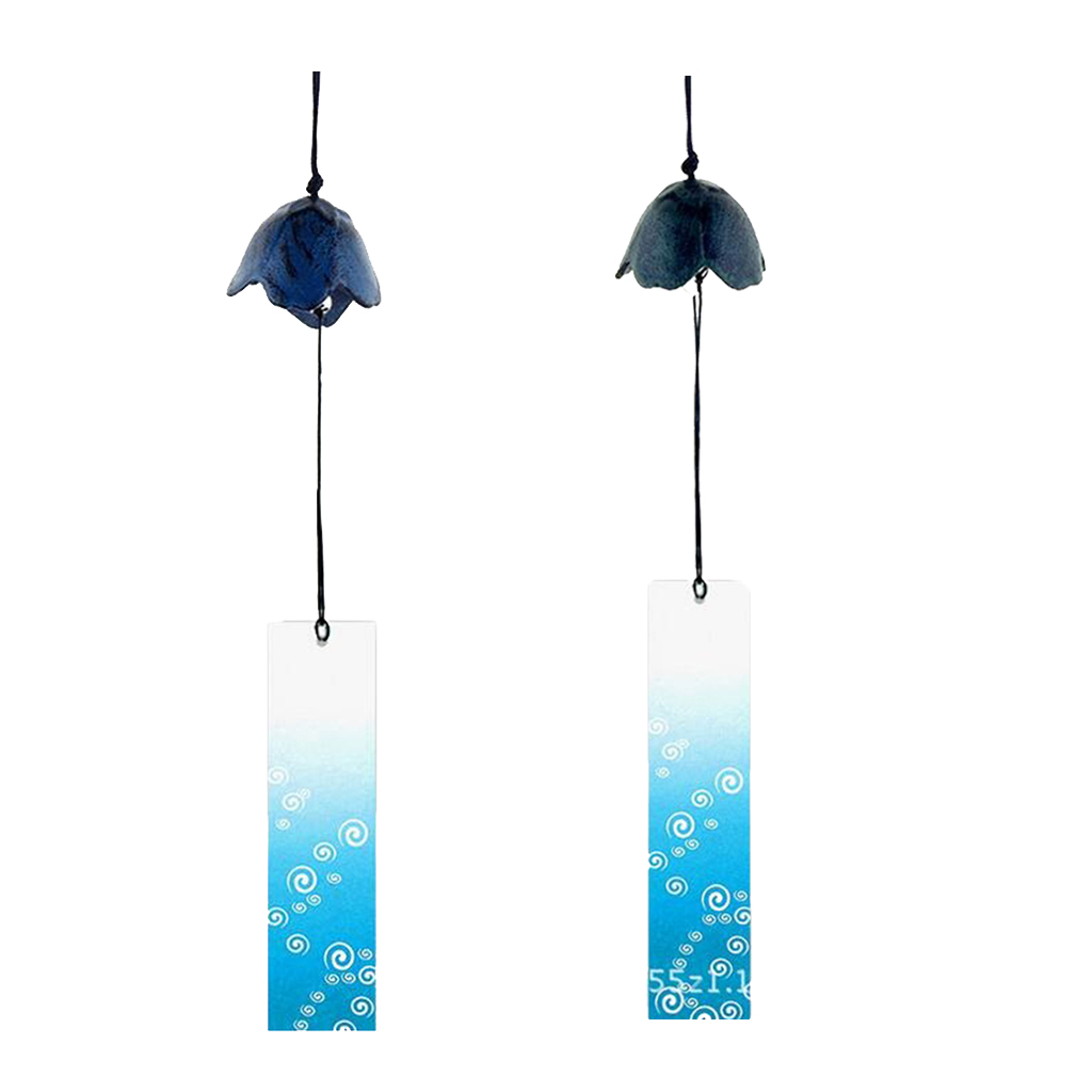 2 Pieces Japanese Furin Wind Chime Nambu Cast Iron Iwachu Bell Flower-shaped ...