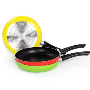 26cm nonstick frying pan aluminum alloy material teflon coating inside cookware pan 3 - Non Stick Frying Pan