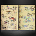 New Arrival Butterfly Flower Bird Skull Design Hot A4 Size 108 Pages Oriental Flash Tattoo Art Book Sketch Flashbook 28.5*24cm
