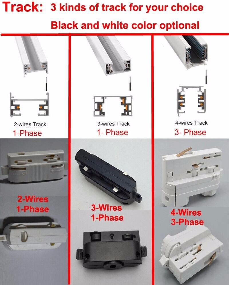 FÜHRTE Schiene 1 Mt 3 Phase Schaltung 4 Draht Aluminiumschiene ...