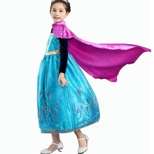 Girls Princess Elsa Anna Costumes Dress With Red Cloak for Princess Party Cosplay Christmas Outfit Flower Dresses 2-10 Years game anime king of glory diaochan red dress christmas cosplay costumes cloak skirts socks sleeve bowknot o