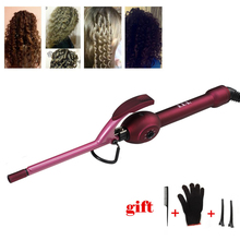 9mm Hair Curling Iron Wand Hair Curler Men's Wave Curler Deepwave Small Hair Curlers Fluffy Curly rulos krultang Styling Tools new mini portable hair curler portable hair curling irons travel small curlers cute hair curling iron cartoon hair styling tools