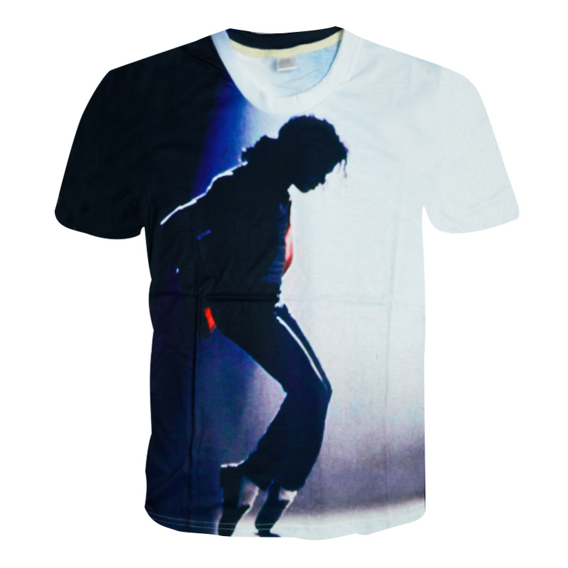 SexeMara Rare MJ Michael Jackson Cool Punk Moonwalk Printing Pattern In  Memory Tshirt Tee Causal Short Sleeve Cotton 100% a8789e274fea