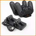 Charger Dual USB Charging Dock Station Stand for PS4 PlayStation 4 Game Controller Black
