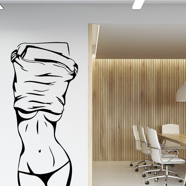 Sexy Girl Vinyl Wall Sticker Wall Decor Fof Clothes Store Beauty Salon For Bedroom Room Decoration Wall Decals Sticker Mural