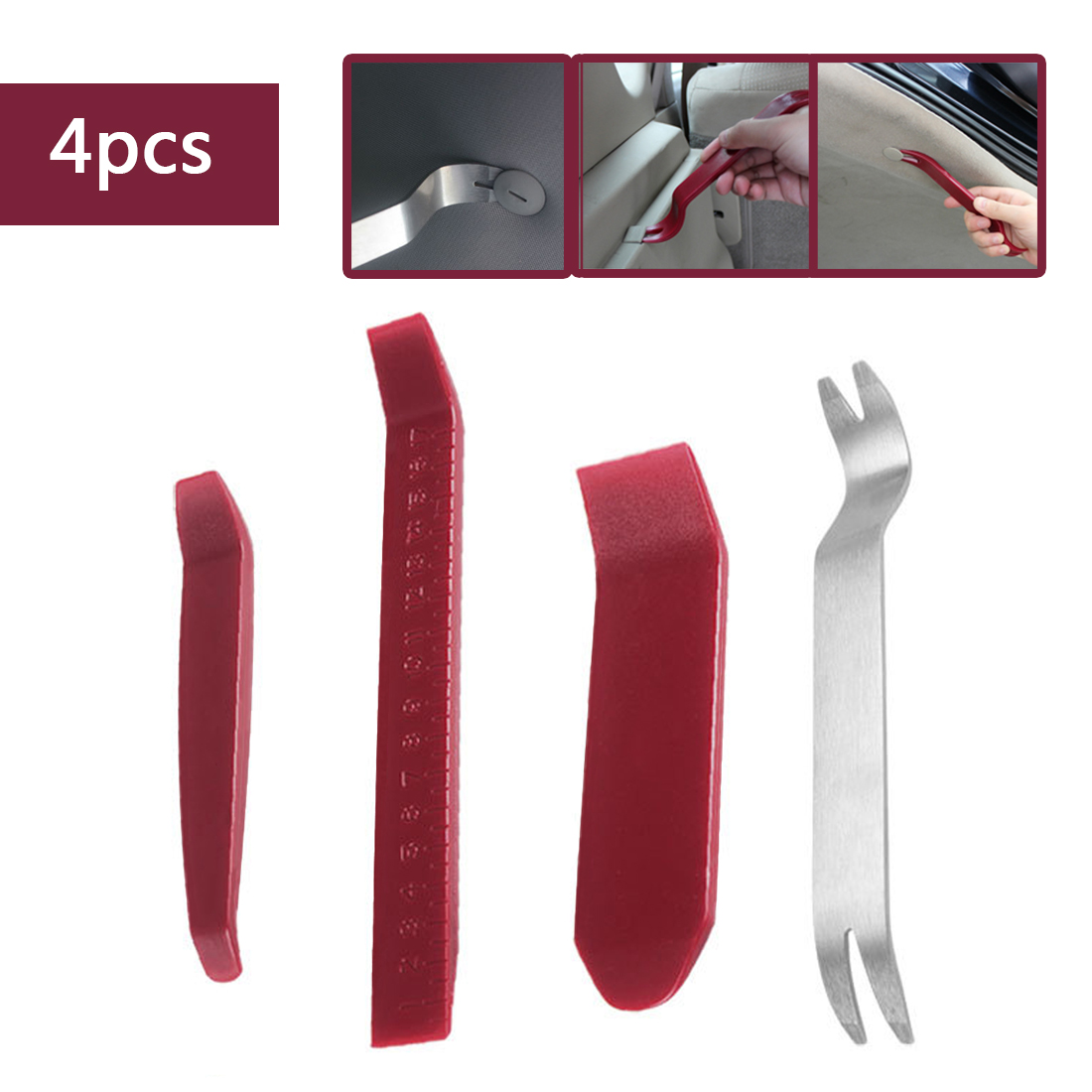 4 Pieces Car Disassembly Interior Kit Audio Removal Trim Panel Dashboard Car DVD Player Auto Trim Removal Tool