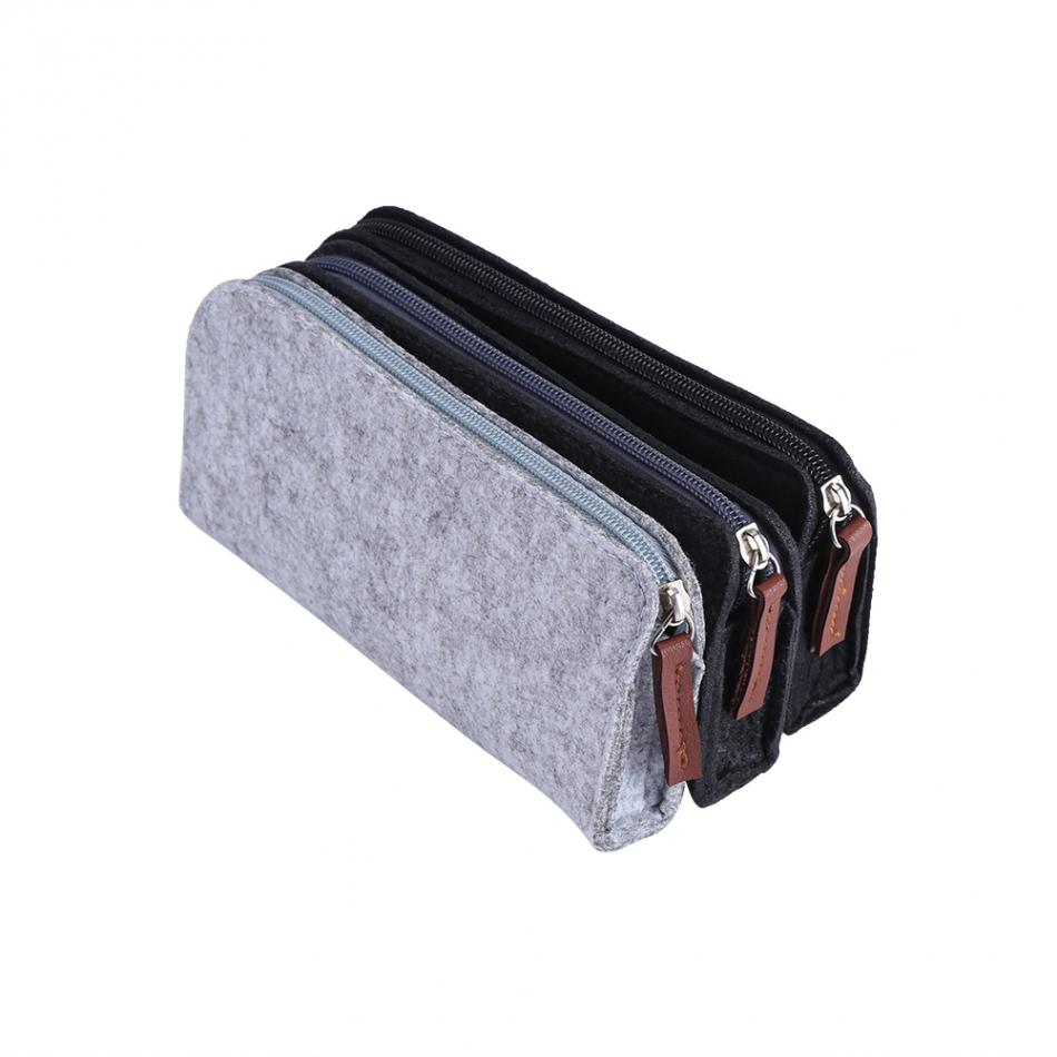 font b Big b font Capacity Felt Pen Bag Stationery Pouch Purse Cute Pencil Case