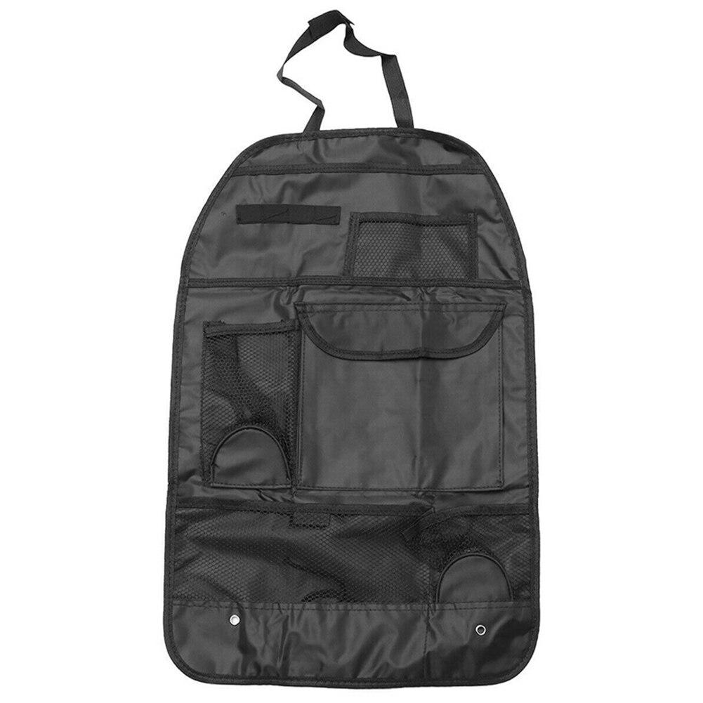 2 pcs universal car back seat organizador saco de armazenamento de malha com bolsos multi nj88