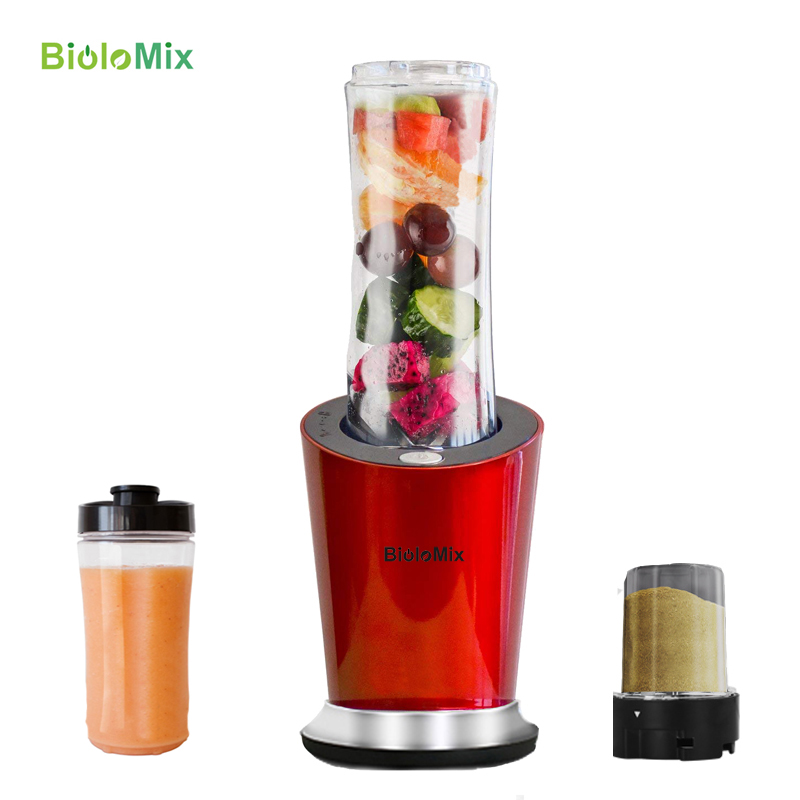 BPA FREE 300W Portable Personal Blender Mixer Food Processor 600ml Juicer Bottle Baby Food Maker Optional Grinder And Small Cup