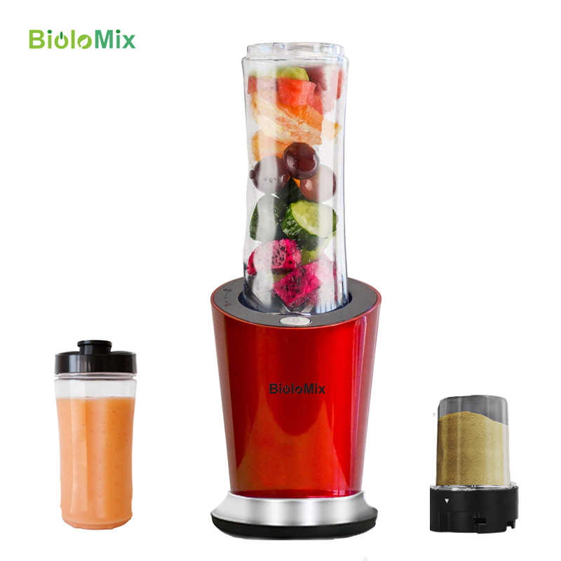 BPA LIVRE 300W Pessoal Portátil Misturador Liquidificador Processador de Alimentos Espremedor 600ml Garrafa Fabricante de Comida Para Bebé Moedor Opcional e copo pequeno