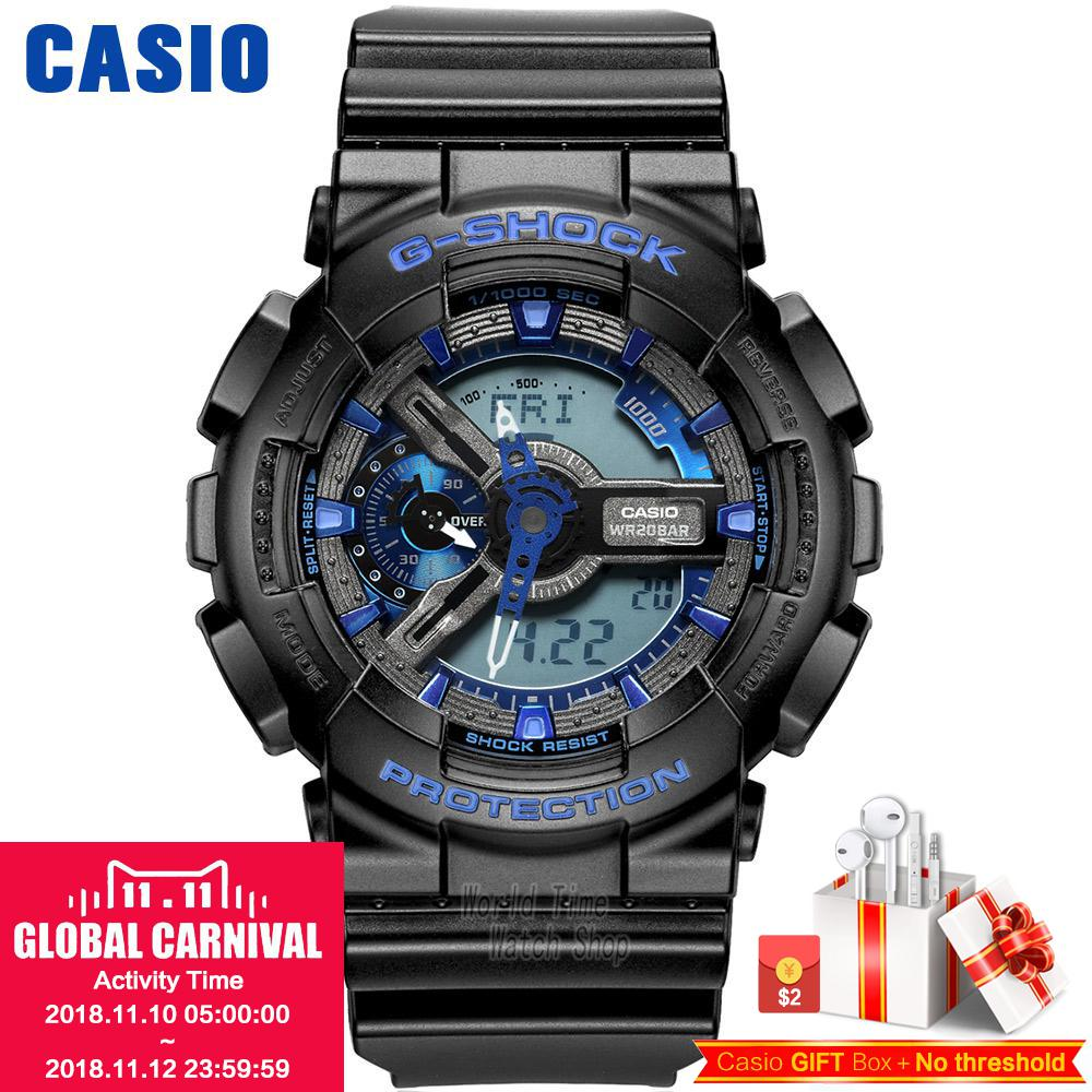 Casio watch G-SHOCK Men's quartz sports watch shockproof double display waterproof g shock Watch GA-110 casio g shock g classic ga 100mm 3a