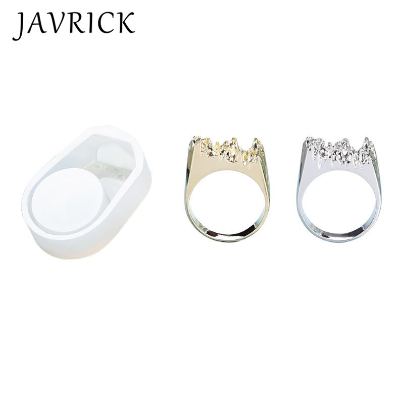 3 Pcs set UV Crystal Epoxy DIY Ring Silicone Mold Broken Mountain Modeling Creative Handmade Material in Jewelry Tools Equipments from Jewelry Accessories