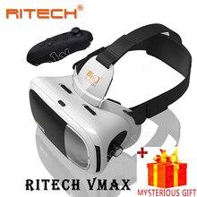 Ritech Casque VR Box Headset Video 3 D 3D Virtual Reality Glass Goggles Smartphone Helmet For Smart Phone Google Cardboard Vrbox