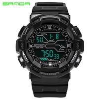 SANDA Sport Military Men S Watches Men Top Brand Luxury Chronograph LED Digital Watch Waterproof Male