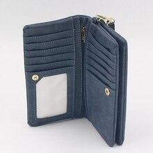 Fashion Ladies Wallet Long Wallet Purse Female Korean Version Of The Matte Retro Double Zipper Card Bag Purse