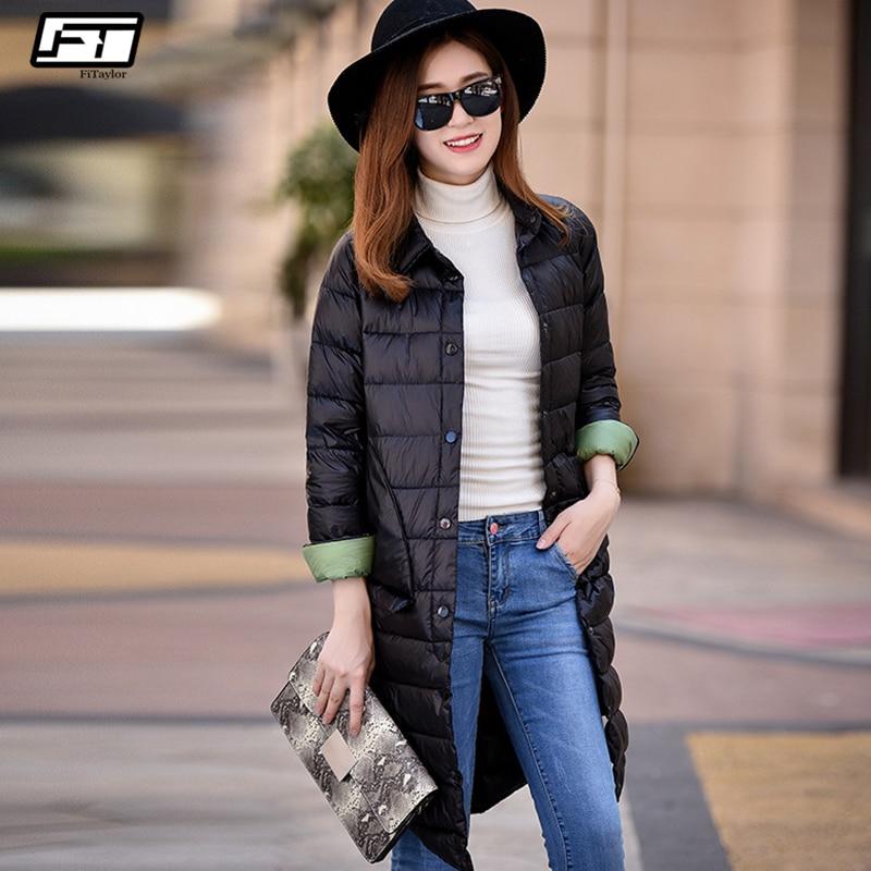 Fitaylor Ultra Light   Down   Jacket Winter Women   Coats   Black Overcoat Warm 90% Duck   Down   Padded Long Jackets Female   Down   Parkas