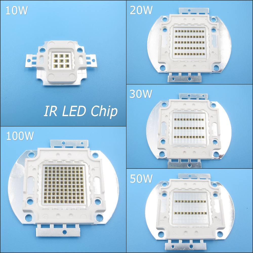 High Quality 730nm - 740nm IR LED Bulb Chip 10W 20W 30W 50W 100W LED Lamp Epileds for Detecting Sensor Laser Flashlight high quality 730nm 740nm ir led chip 10w 20w 30w 50w 100w led lamp epileds led chip for detecting sensor laser flashlight