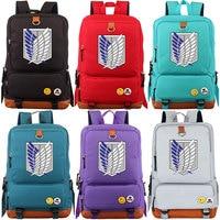 2018 Anime Wings Attack on Titan Boy Girl School bag Women Bagpack Teenagers Schoolbags Canvas Men Student Backpack Packsack