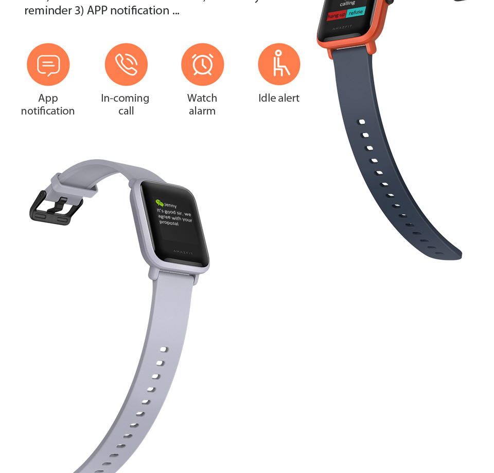 Huami Amazfit Bip Smart Watch With Reflection Color Screen IP68 Waterproof Technology And GPS for Android & iOS 9
