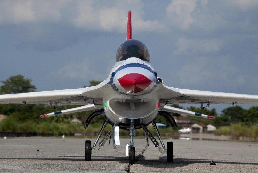 Радиоуправляемый самолет Freewing F16 90 мм, цвет Thuderbird 90 мм, edf jet PNP