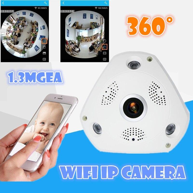 imágenes para V380 3D VR Cámara Panorámica de 360 Grados Cámara IP 960 P 1.3MP Cámara IP Inalámbrica Wi-fi SD Ranura de la Tarjeta De Visualización De Múltiples modo