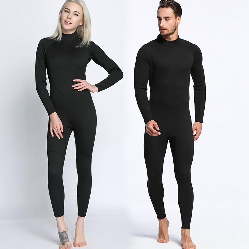 2mm noir plongée combinaison haut néoprène corps complet combinaison de plongée hommes femmes chaud plongée en apnée surf chasse sous-marine une pièce combinaison 2018