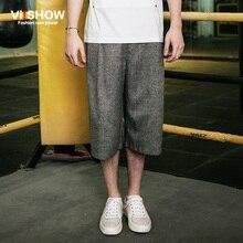 Envío gratis Marca VIISHOW verano hombres pantalones cortos Gris hombre de negocios ocasional pantalones Streetswear moda Capri pantalones Más El tamaño(China (Mainland))