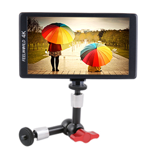 Camera Rig Flash Lights LCD Monitor Gimbal Stabilizer LED Lights Microphones FEELWORLD 7 Rugged Articulating Magic Arm with 1//4 3//8 Thread Screw for DSLR On Camera Field Monitor