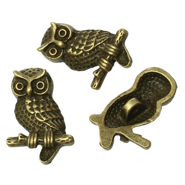 "Zinc metal alloy Shank Button Metal Buttons Owl Antique Bronze Single Hole 22mm( 7/8"")x 15mm( 5/8""),2 PCs 2"