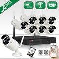 8CH NVR Inalámbrica Plug And Play CCTV Sistema 2 TB HDD y P2P 1080 P HD Al Aire Libre + Cubierta resistente a la intemperie de Visión Nocturna IR Kit de Cámara de Seguridad
