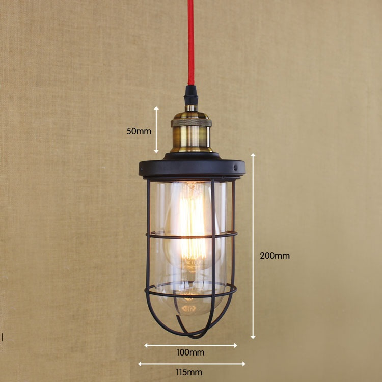 IWHD Glass Vintage Retro Pendant Lights American Style Loft Industrial Hanging Lamp LED Kitchen Light Dining Iron Hanglamp new loft vintage iron pendant light industrial lighting glass guard design bar cafe restaurant cage pendant lamp hanging lights