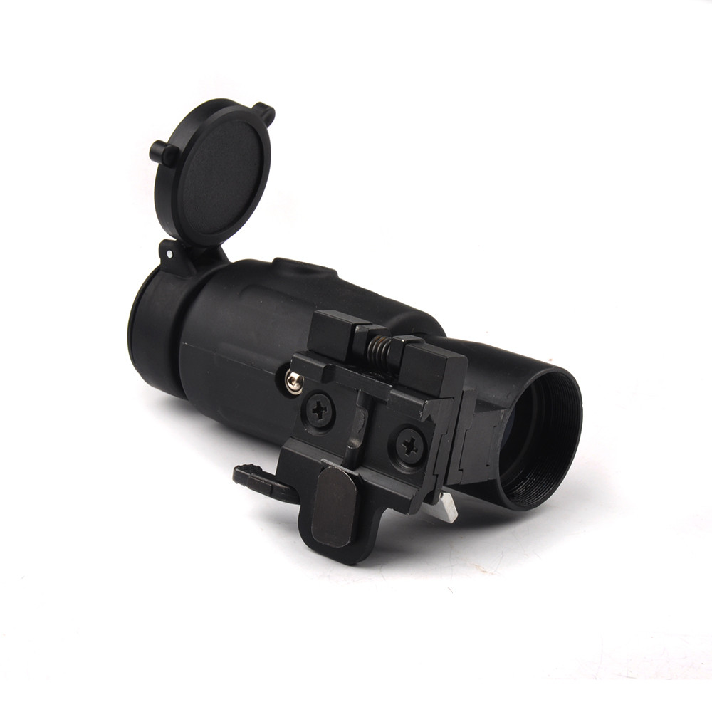 Tactical 3X Magnifier Scope Quick Release for 20mm Picatinny Rail Flip to Side Mount for Rifle Hunting-in Riflescopes from Sports & Entertainment    3