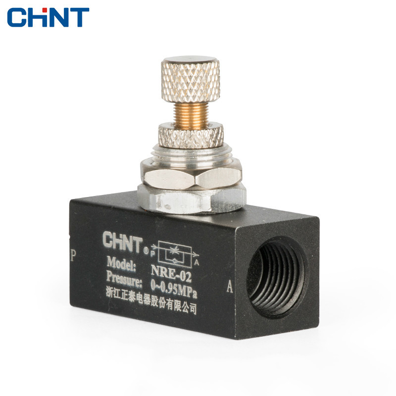 CHINT One-way Throttle Valve Pneumatic Adjust Speed Valve Flow Control Regulating Valve 2 Part Thread hydraulic pump double throttle check valve flow valve z2fs22 30b stack valve