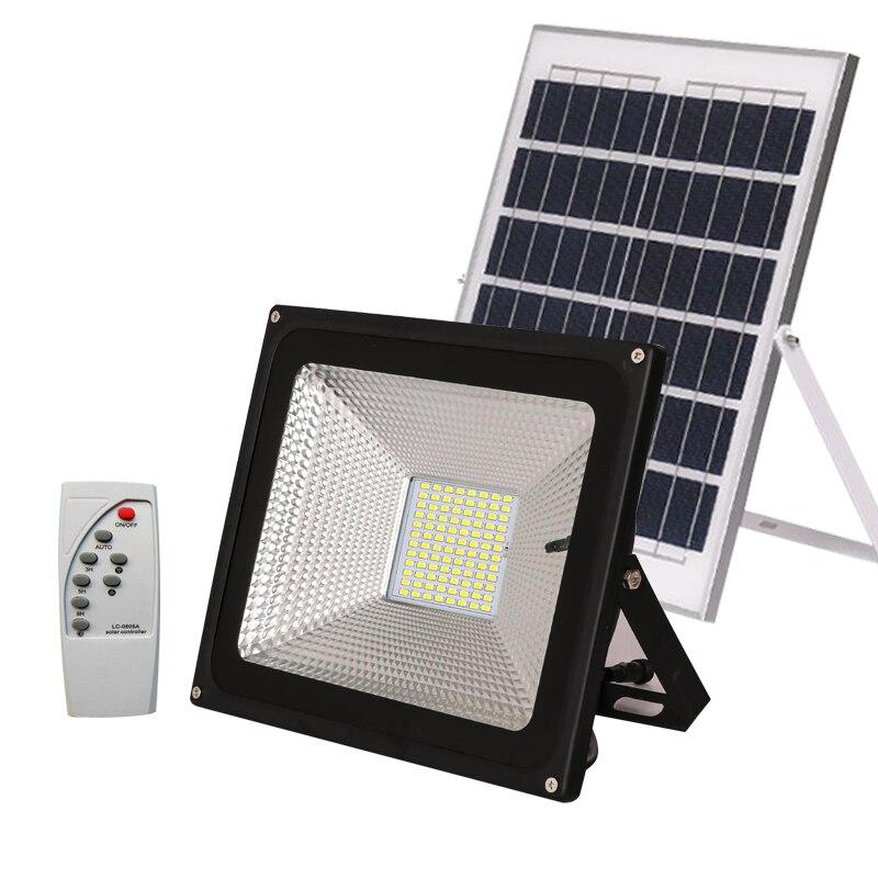 outdoor waterproof solar light sensor led floodlight solar power with solar panels for garden solar light led